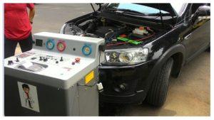 Proses Flushing dan service masalah AC Mobil Avanza Kurang Dingin