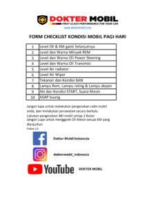 Form Checklist Mobil Pagi hari-1