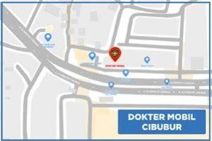 Peta Bengkel Service Mobil di Cibubur